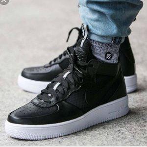 hot sale online fb77b d17c5 Nike Air Force Ultraforce MID Black White W AUTHEN NWT